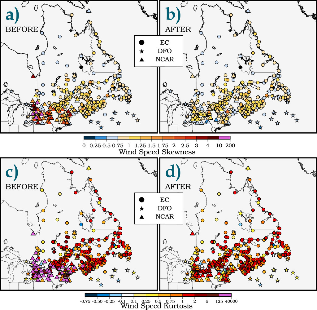 Quality Control of Surface Wind Observations in Northeastern North ...