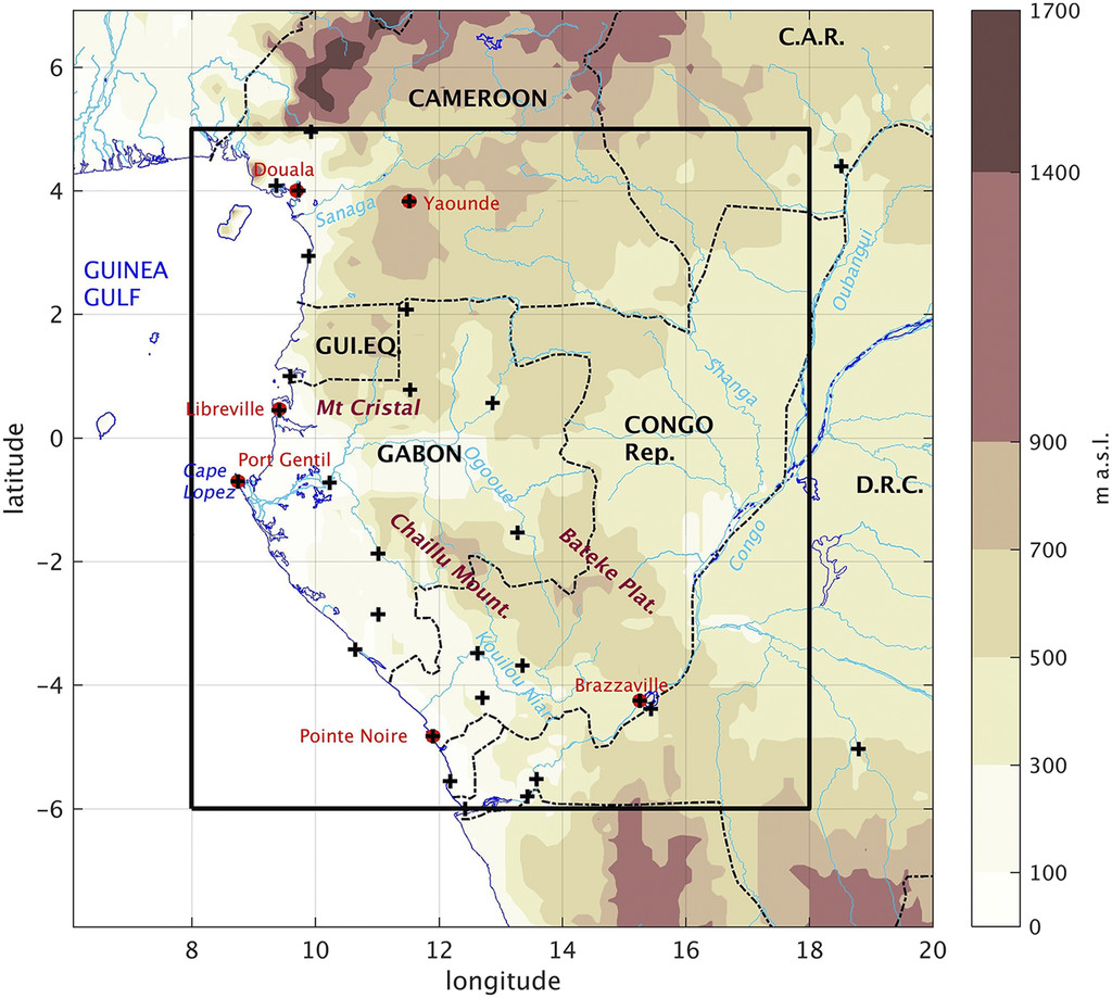 The June–September Low Cloud Cover in Western Central Africa: Mean ...