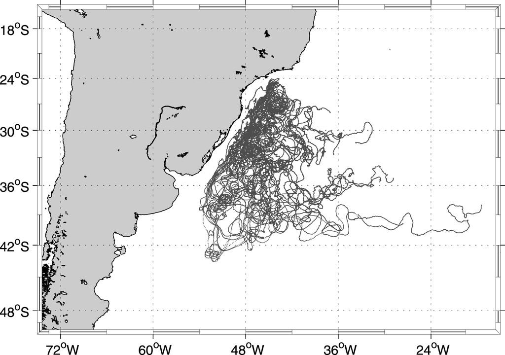 Lagrangian Drifter Dispersion in the Southwestern Atlantic Ocean ...